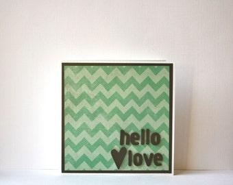 Hello Love Handmade Card