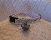 Chevron Cat Collar with Mouse  bell Breakaway Collar Custom Made
