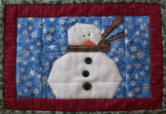 Bundle Up Snowmen PDF Pattern from Quilt Doodle Designs