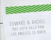 Custom Address Stamp, Address Stamp, Personalized Rubber Stamp, Custom Rubber Stamp, Invitations, Rubber Stamp Self Inking - LetterSmith 2
