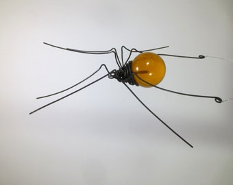 Apricot Sun Catcher Window Spider Hanging Art, Made to Order