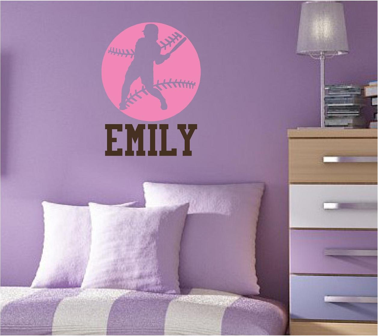 softball wall stickers