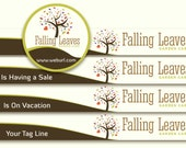 Shop Banner, Logo Design, Pre-made, - Includes, tree logo  ,flowers logo , hearts & leaves.- Includes, Banners, Avatar, and more..