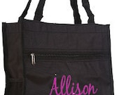Personalized Tall Tote Bag (BLACK)