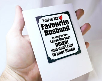 Funny Anniversary Card. Guys Valentines Card. Funny Guy Card. Card for Him. Fart Card. MT132