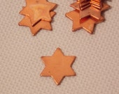 Copper Star of David  (Blanks for Copper Enameling (12qty)