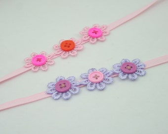 Set of 2 Lace flower headbands