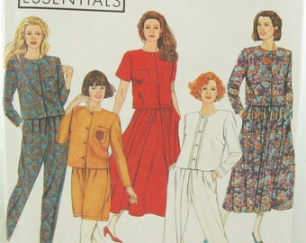 1990s Simplicity 7511 Skirt and Top Pants or Shorts Sewing Pattern Bust 36