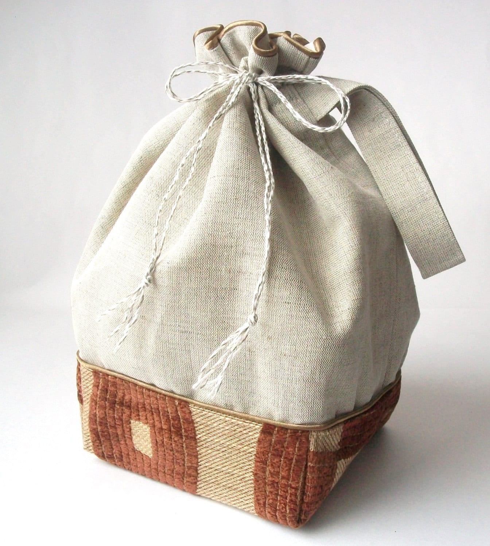 drawstring bag knitting project bag crochet project bag