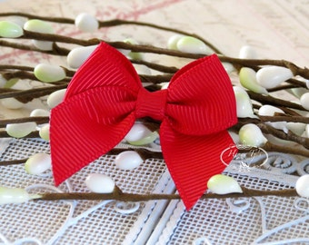 12 pcs Adorable RED Grosgrain Butterfly Small Bows, Fabric Bows Tie, Hair accessories.
