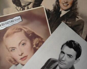 SALE- Vintage Photo Frame Celebrity Inserts -A
