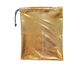 Gymnastics Grip Bag or Gift Bag Shiny Mystique Gold Metallic Spandex Print