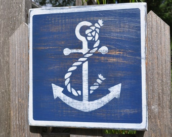 Anchor Plaque in Blue