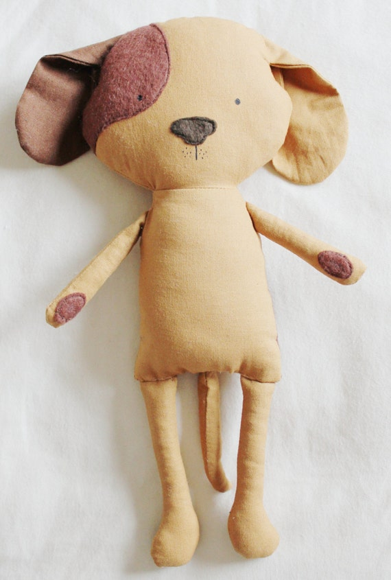 Sew A Cute Puppy Pillow Softie : Dog Sewing Pattern Puppy Softie Plush Toy Cloth Doll by ElfPop
