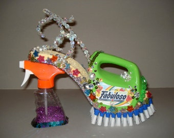 "high heel shoe sculpture "" The Cleaning Lady """