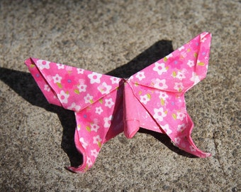 Origami Butterfly Broach - Pink floral
