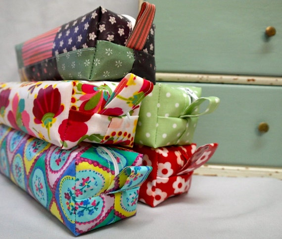 Floral pencase/makeup bag
