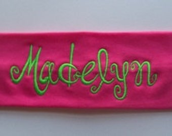 Personalized Embroidered Stretch Headbands