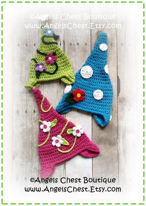 Newborn Gnome Hat Crochet Pattern : Crochet GARDEN GNOME Hat PDF Pattern Sizes Newborn to ...