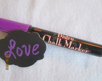 Violet Chalkboard Markers-  Purple Chalk Pen-Bistro Chalk Marker for writing on Vinyl Chalkboard-Glass Markers-Dry Erase