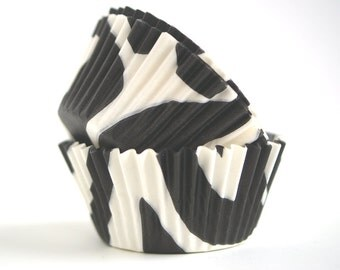 Zebra Baking Cups (60)