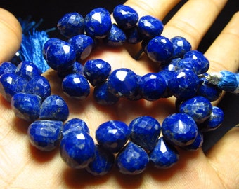 8 '' inches Full Strand Gorgeous Blue - LAIPIS LAZULI - Micro Faceted Onion shape Briolett huge size 8 - 8.5 mm Approx