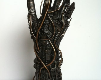 techno hand sculpture