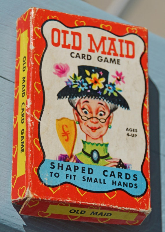Vintage Old Maid Card Game - Collage Porn Video-1608