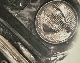 Ford Mustang Photo Print 8x10 1965 Mustang Vintage Car Headlight