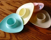 Reserved for Andrea 1 of 2 ...  MELMAC EGG CUPS set of 4 ... breakfast sweet .... set 2