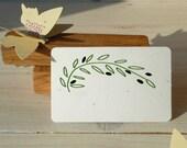 Curved Olive Branch Olive Wood Stamp