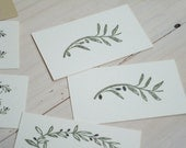 Sketched Olive Branch Olive Wood Stamp