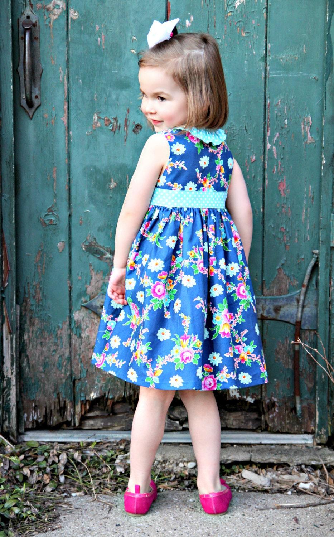 PDF Girls Dress Pattern - Miss Matilda Dress and Top, Size 6 Month - 10 Years