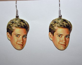 Mark Paul Gosselaar Zack Morris Saved By The Bell Dangle  Earrings Television Jewelry Charms