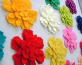 60 Piece Die Cut Felt Flowers