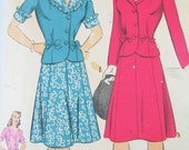 Women's 1940s Victory Suits and Utility Suits Vintage 1940s SuitDress Pattern  Hollywood Pattern 1392  Misses TwoPiece Suit  SZ 14Bust 32 $18.00 AT vintagedancer.com