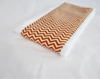 Orange Chevron Baby Burp Cloth