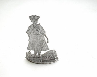 Vintage Tin Figurine in Traditional Costume - Black Forest - Germany - Europe