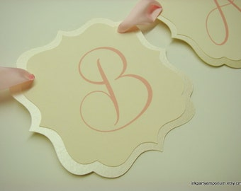 Baby Shower Banner Decoration for Your Baby Shower Prepared in Colors to Coordinate with Your Party Color Palette
