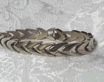 Sterling Silver Modernistic Link Bracelet