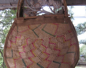 Great Summer fun Boho Chic Straw Bamboo Beach Purse