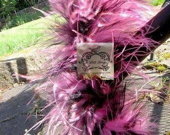 Marabou Boa Feathers Black and Pink Haired Mix
