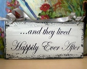 Wedding Sign Wedding,and they lived happily ever after, Flower girl sign,photo prop sign
