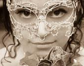 Silver vine masquerade mask, wedding mask, bridal accessories,handmade mask, masquerade ball mask