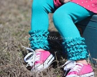 Knit Ruffle Leggings for Girls.