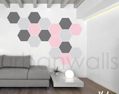 Vinyl Wall Sticker Decal Art - Honeycomb Pattern