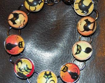 Spooky Kitty Image Bracelet