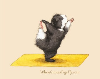 Lord of the Dance - Yoguineas Collection - Cute Guinea Pig Yoga Art Print