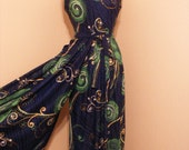 Gorgeous Fitting 70s Vintage Navy Coloured Onesie Bell Bottom Outfit