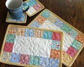 Mug Rugs, Table Quilts, Coasters, Candle Mats, Lunch Mats, Placemats, Table Toppers  --  4 PIECES
